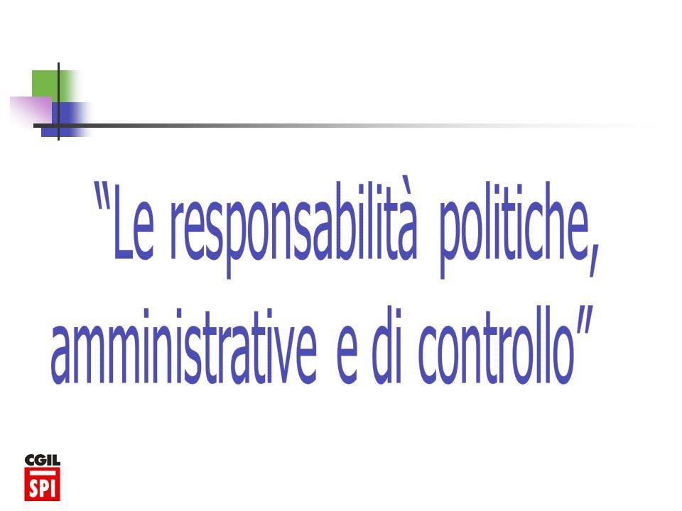 Le responsabilità politiche, amministrative e di controllo