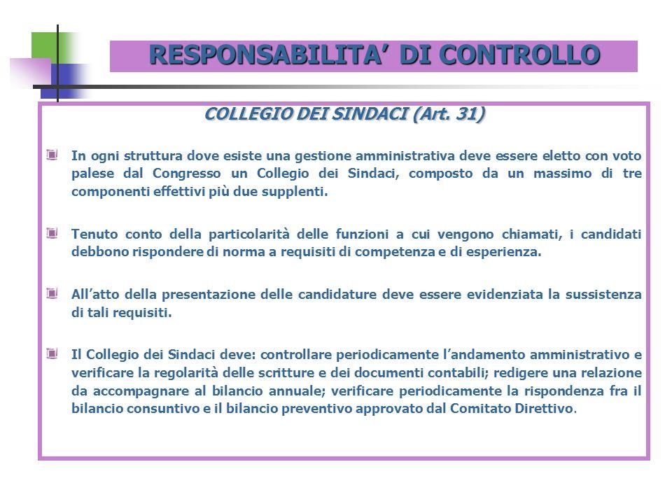 RESPONSABILITA' DI CONTROLLO