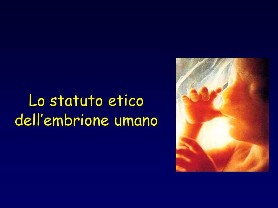 Lo statuto etico dell'embrione umano