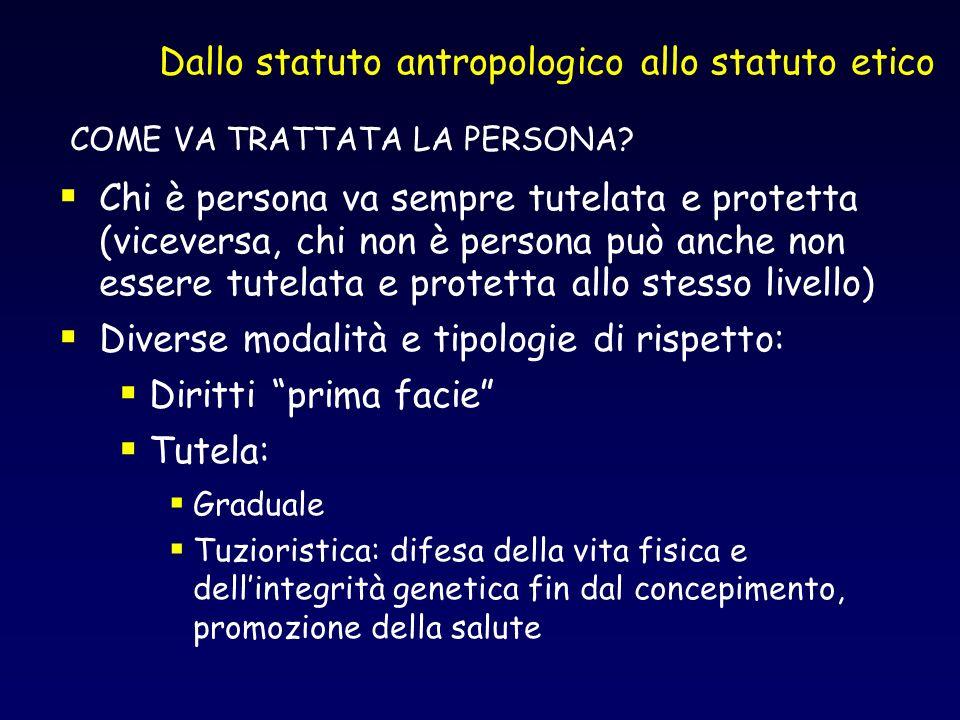 Dallo statuto antropologico allo statuto etico