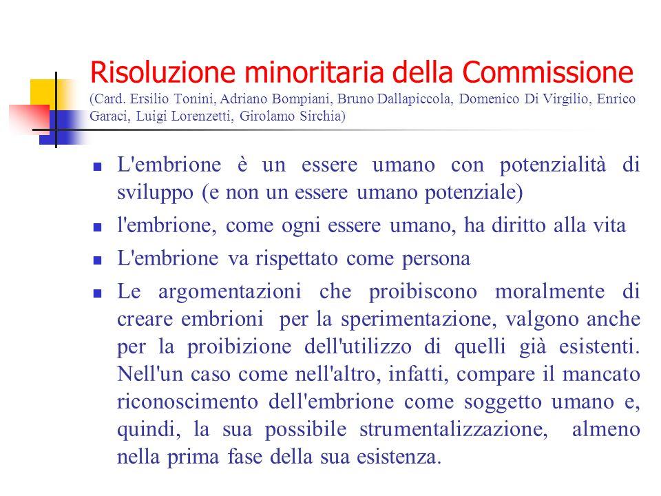 Risoluzione minoritaria della Commissione (Card