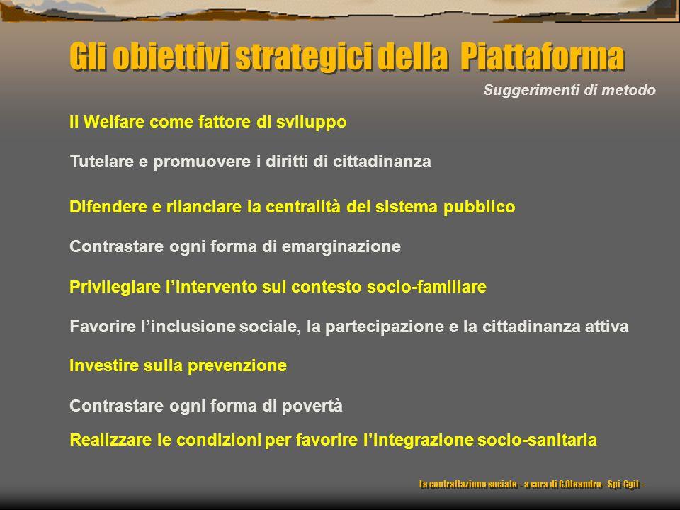 Gli obiettivi strategici della Piattaforma