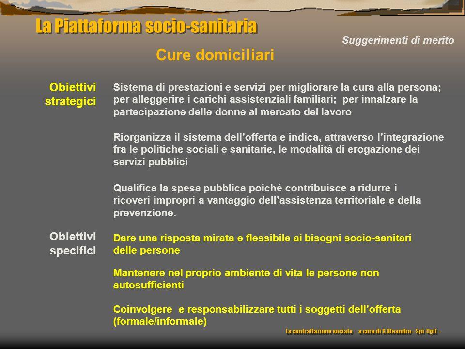 La Piattaforma socio-sanitaria