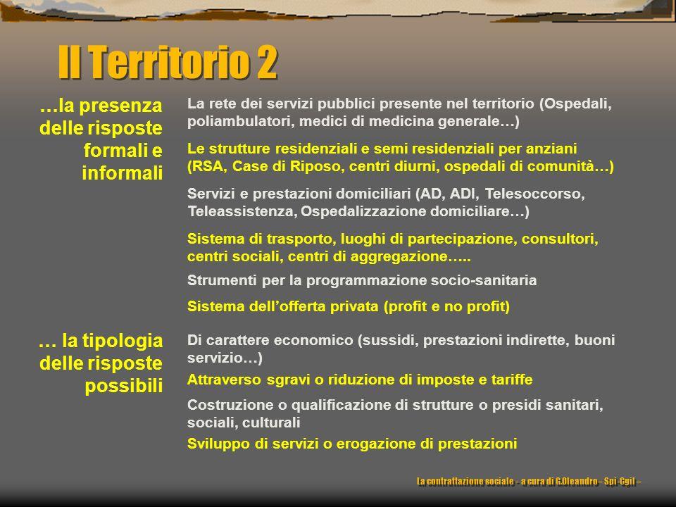 Il Territorio 2 …la presenza delle risposte formali e informali