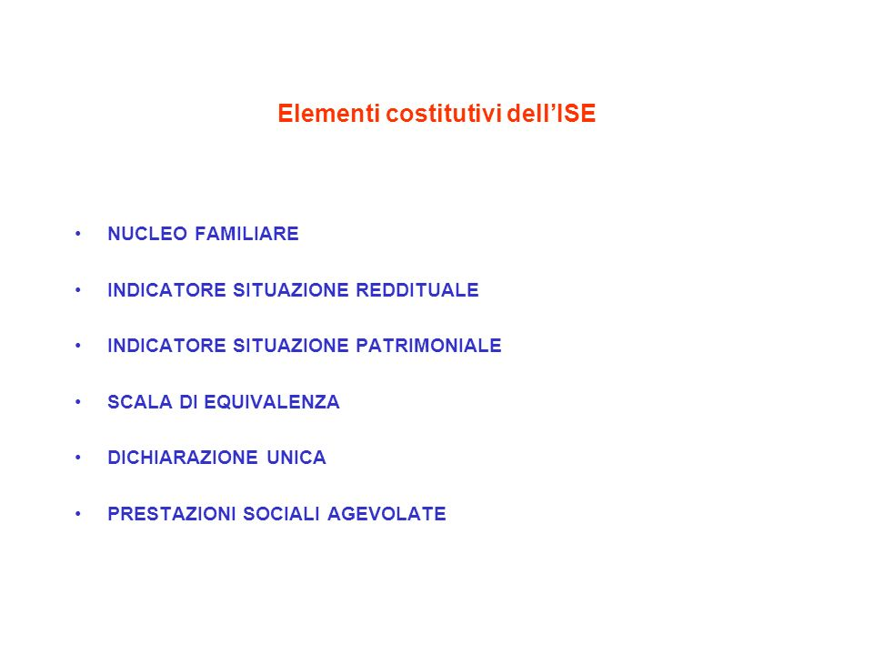 Elementi costitutivi dell'ISE