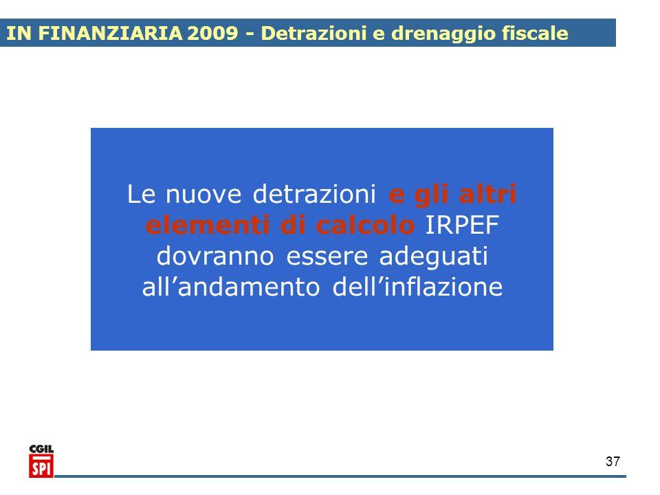 IN FINANZIARIA 2009 - Detrazioni e drenaggio fiscale