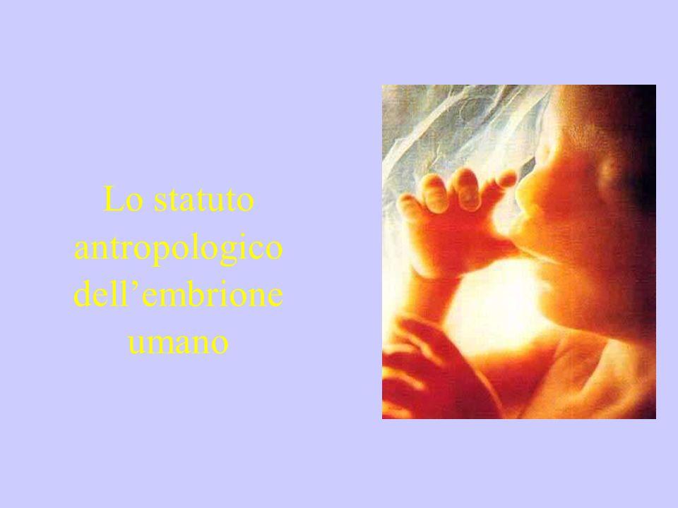 Lo statuto antropologico dell'embrione umano