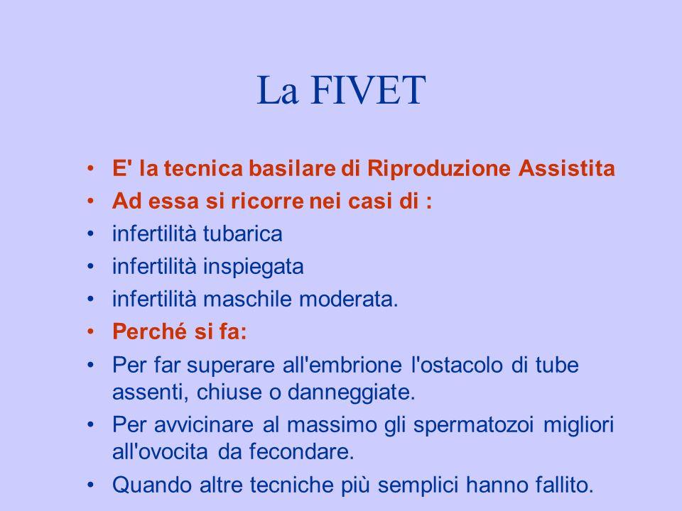 La FIVET E la tecnica basilare di Riproduzione Assistita