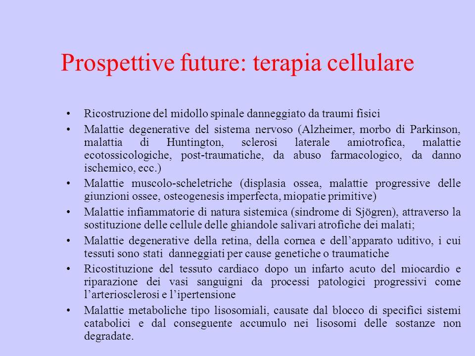 Prospettive future: terapia cellulare