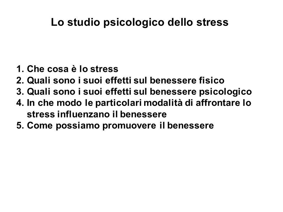 Lo studio psicologico dello stress