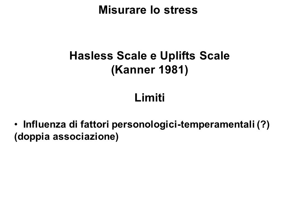 Hasless Scale e Uplifts Scale
