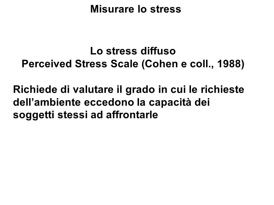 Perceived Stress Scale (Cohen e coll., 1988)
