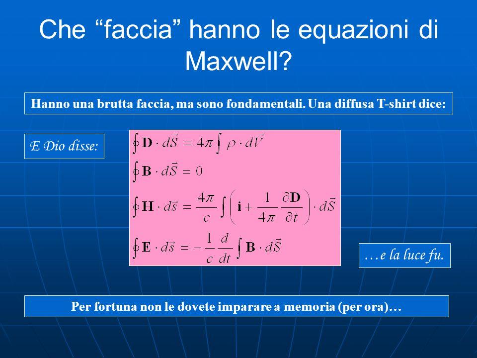 Che faccia hanno le equazioni di Maxwell