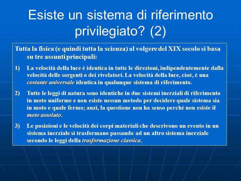 Esiste un sistema di riferimento privilegiato (2)