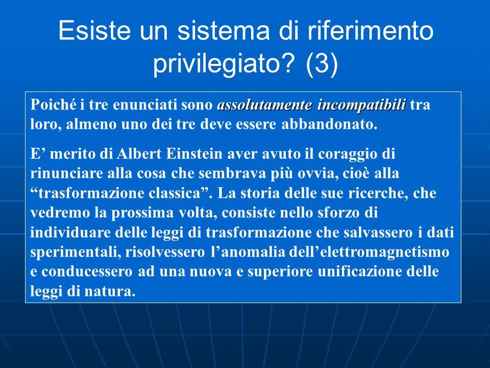 Esiste un sistema di riferimento privilegiato (3)