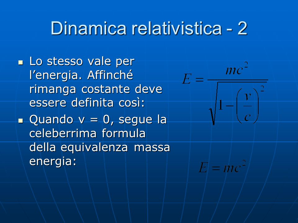 Dinamica relativistica - 2