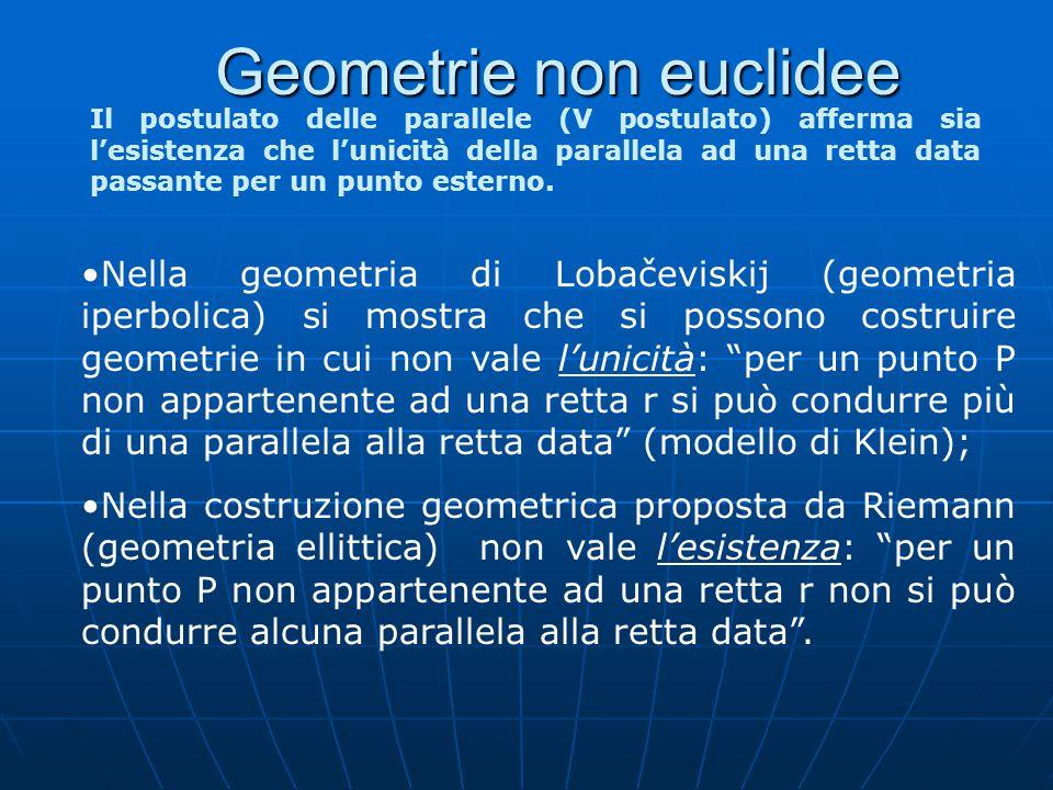 Geometrie non euclidee