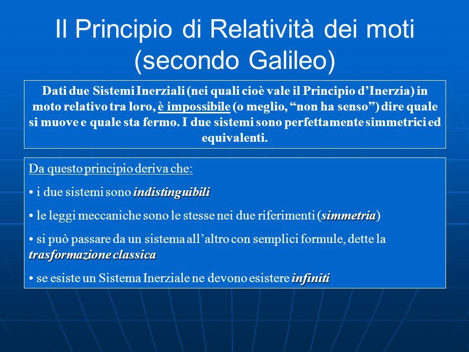 Il Principio di Relatività dei moti (secondo Galileo)
