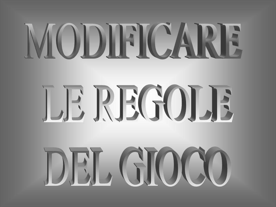 MODIFICARE LE REGOLE DEL GIOCO