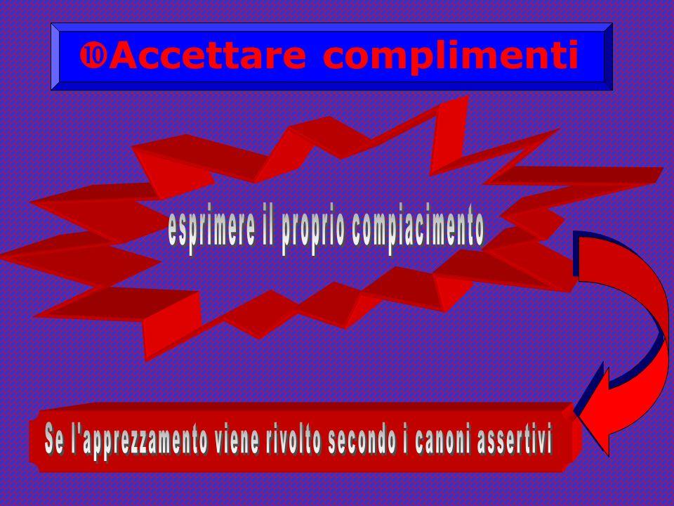 Accettare complimenti