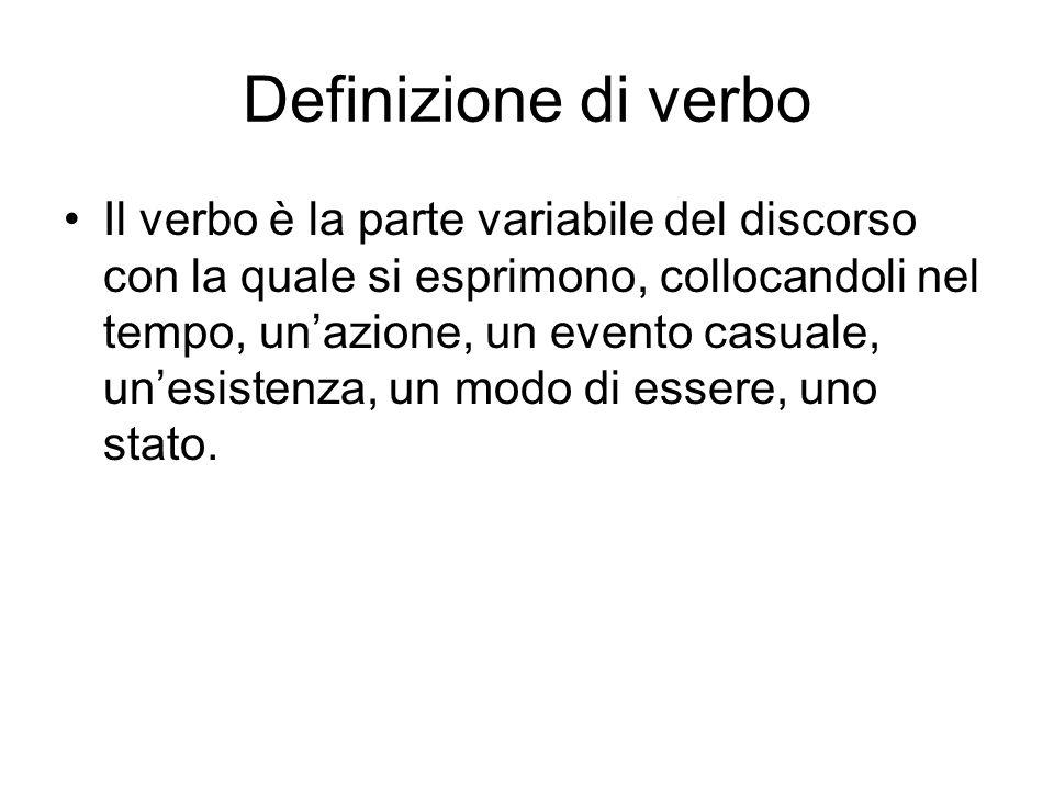 Definizione di verbo