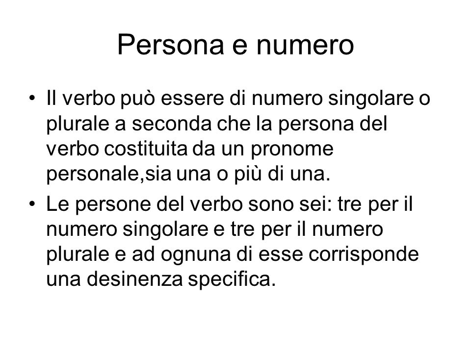 Persona e numero