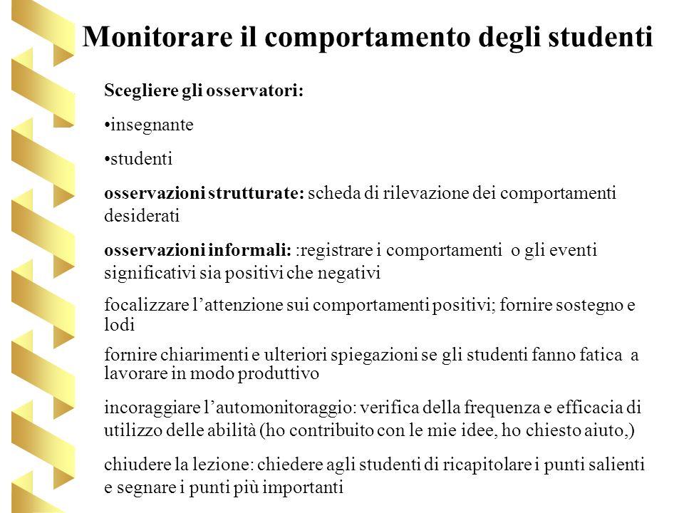 Monitorare il comportamento degli studenti