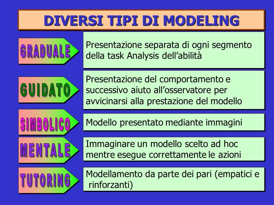DIVERSI TIPI DI MODELING