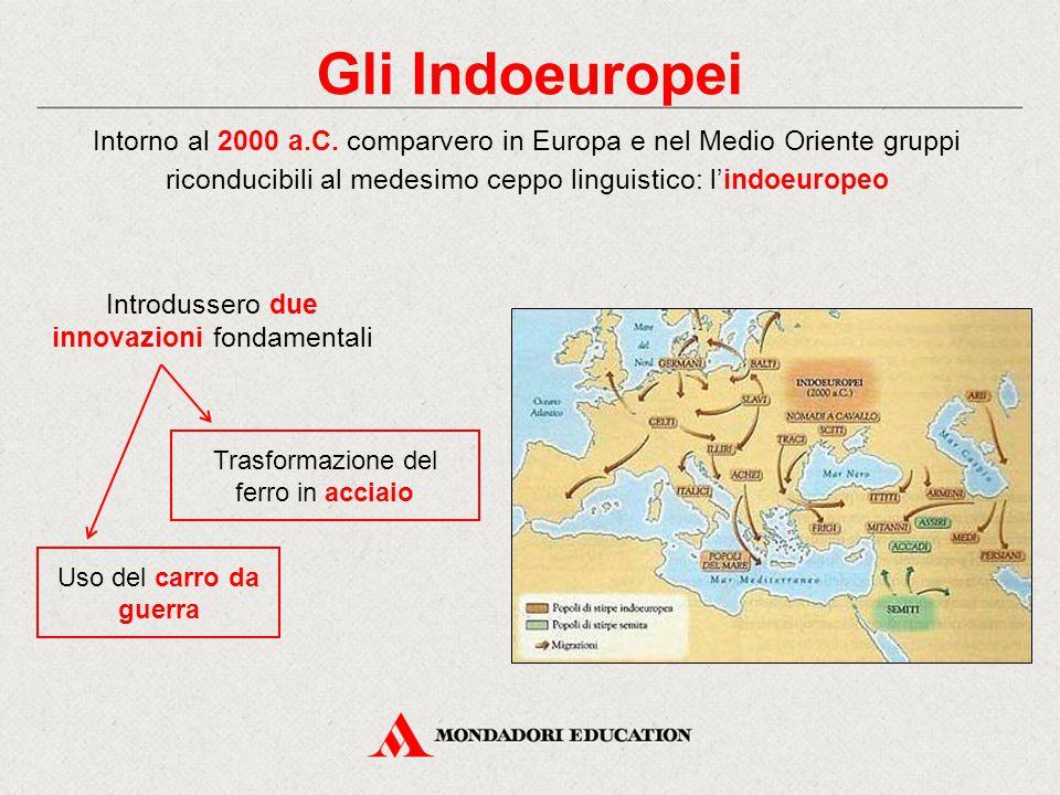 Gli Indoeuropei Intorno al 2000 a.C. comparvero in Europa e nel Medio Oriente gruppi riconducibili al medesimo ceppo linguistico: l'indoeuropeo.