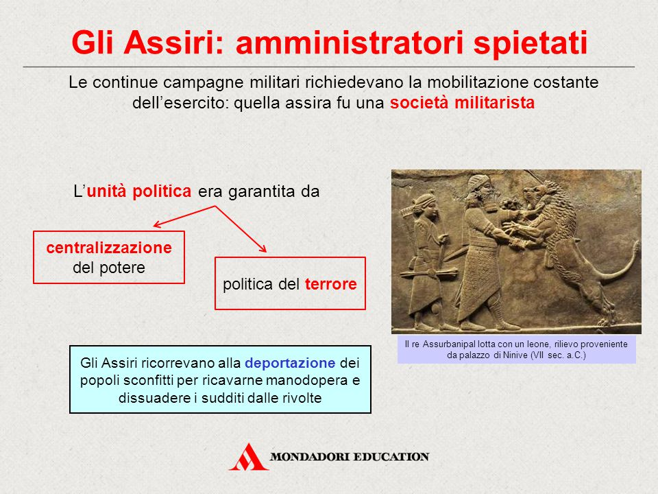 Gli Assiri: amministratori spietati