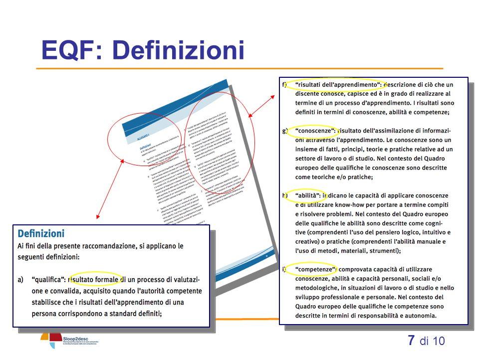 EQF: Definizioni