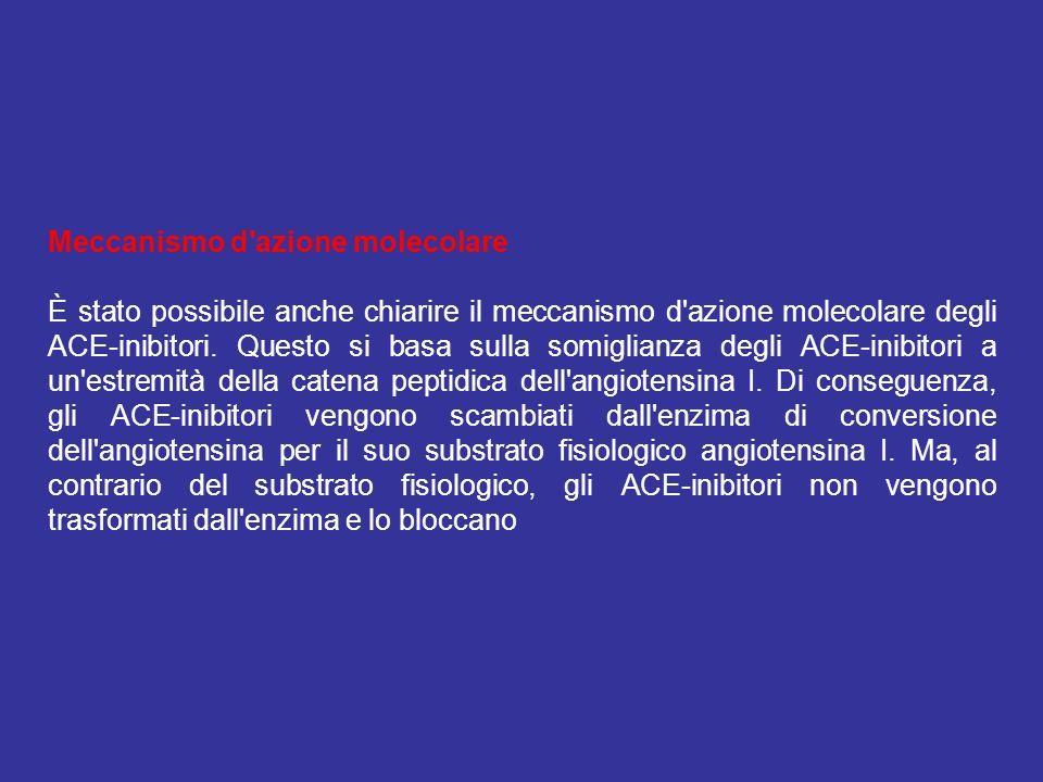 Meccanismo d azione molecolare