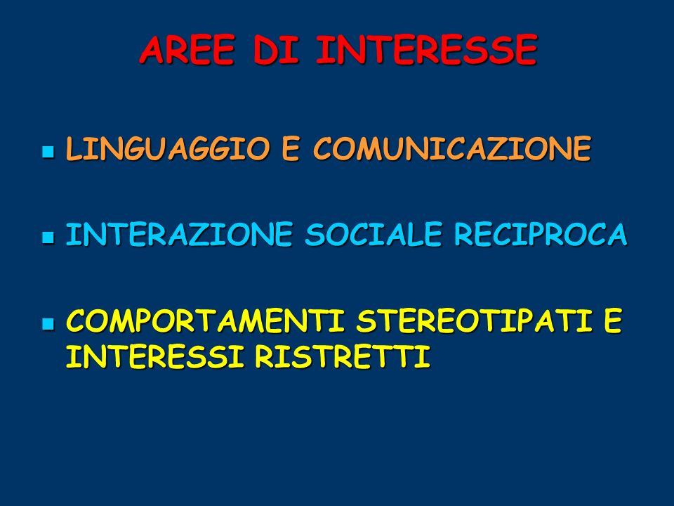 AREE DI INTERESSE LINGUAGGIO E COMUNICAZIONE