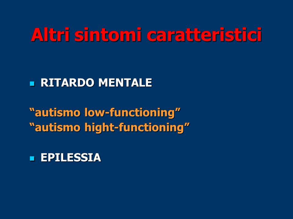 Altri sintomi caratteristici