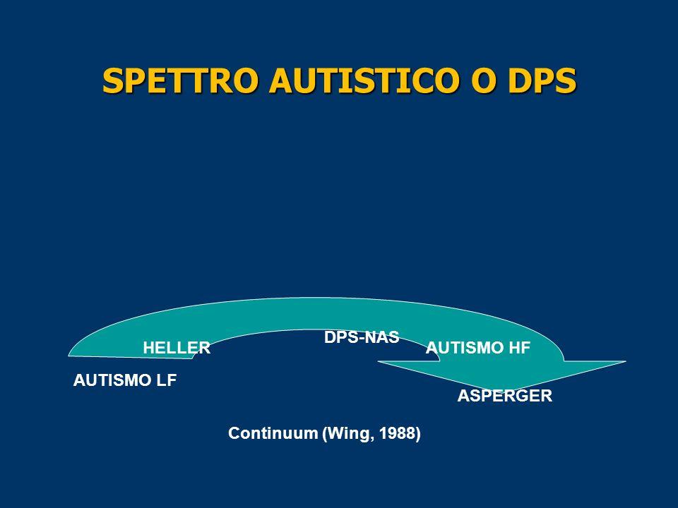SPETTRO AUTISTICO O DPS