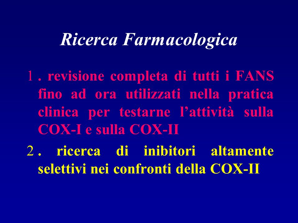 Ricerca Farmacologica