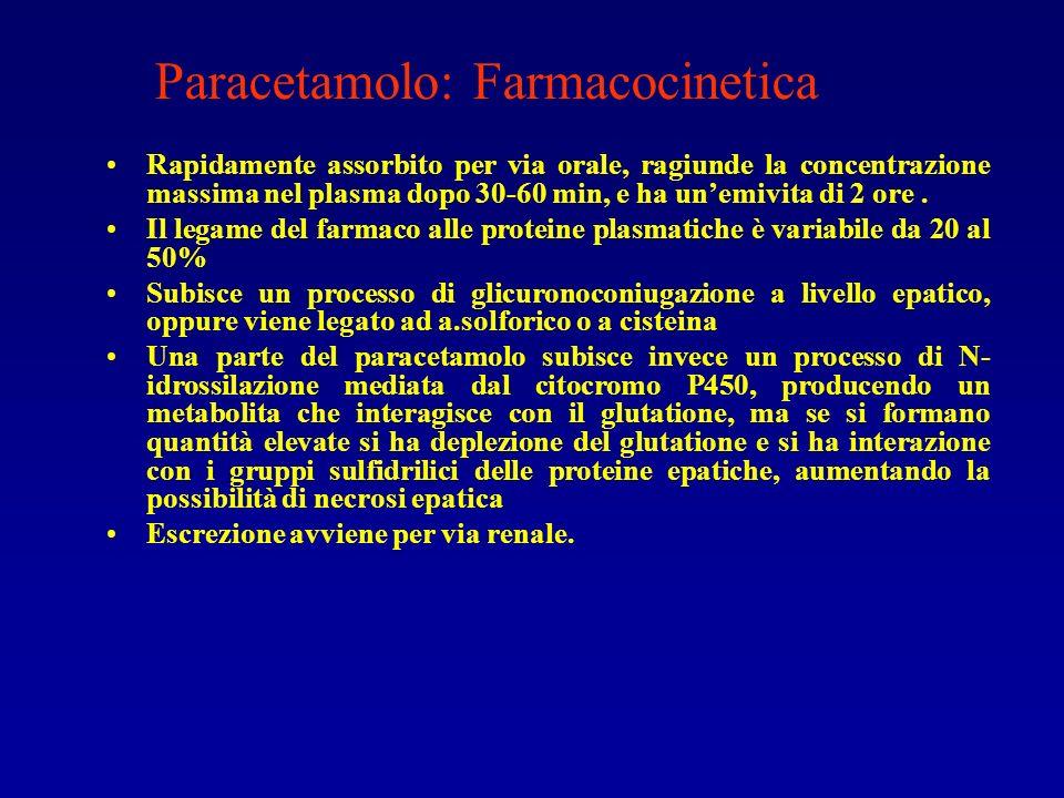 Paracetamolo: Farmacocinetica