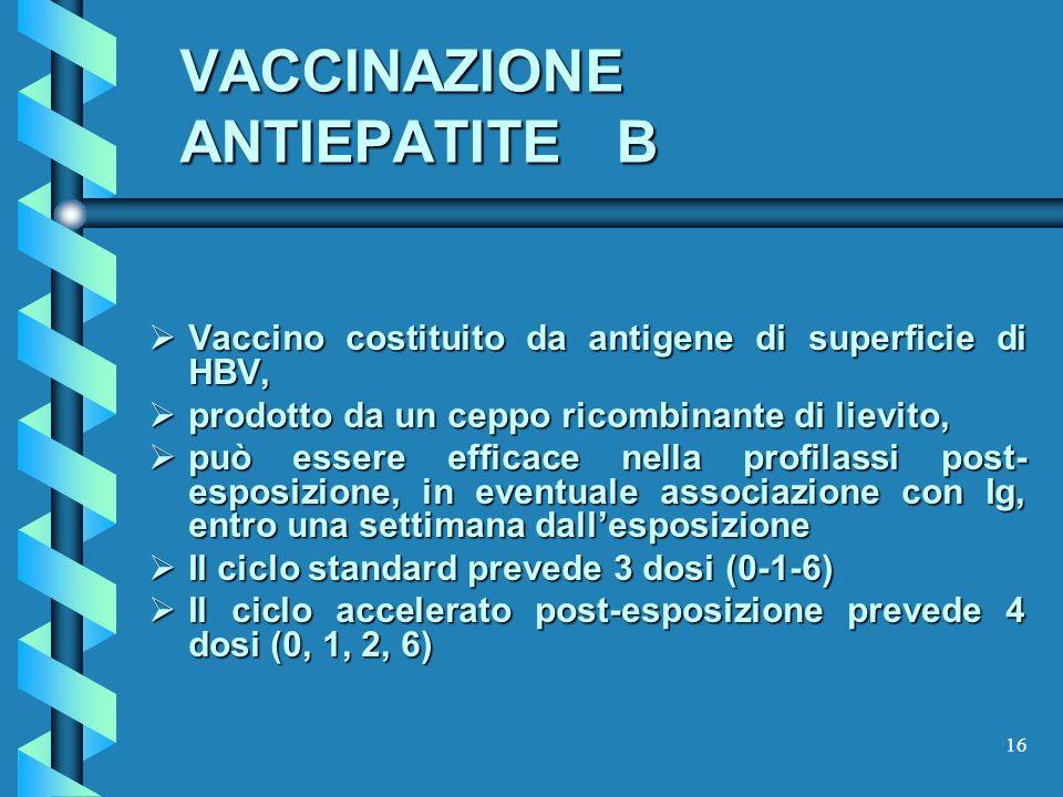 VACCINAZIONE ANTIEPATITE B