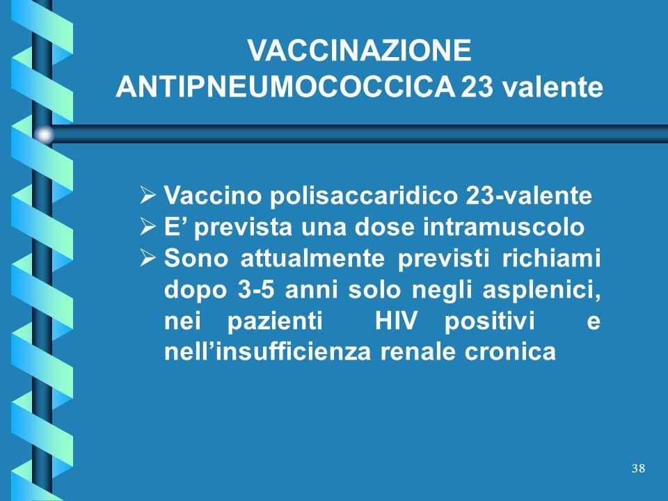 VACCINAZIONE ANTIPNEUMOCOCCICA 23 valente