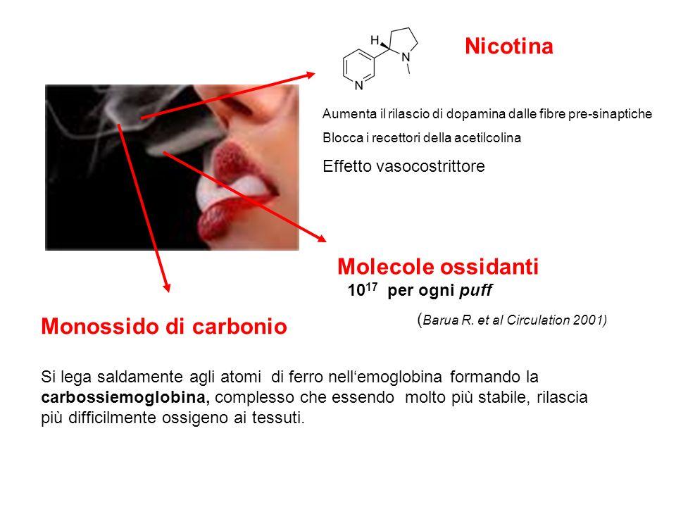 Nicotina Monossido di carbonio Effetto vasocostrittore