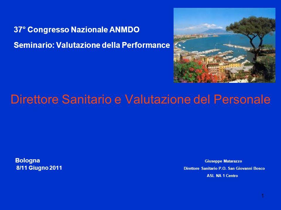 37° Congresso Nazionale ANMDO Seminario: Valutazione della Performance