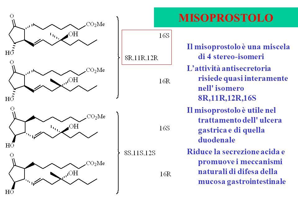 MISOPROSTOLO Il misoprostolo è una miscela di 4 stereo-isomeri