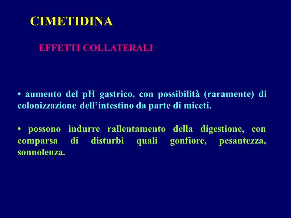 CIMETIDINA EFFETTI COLLATERALI