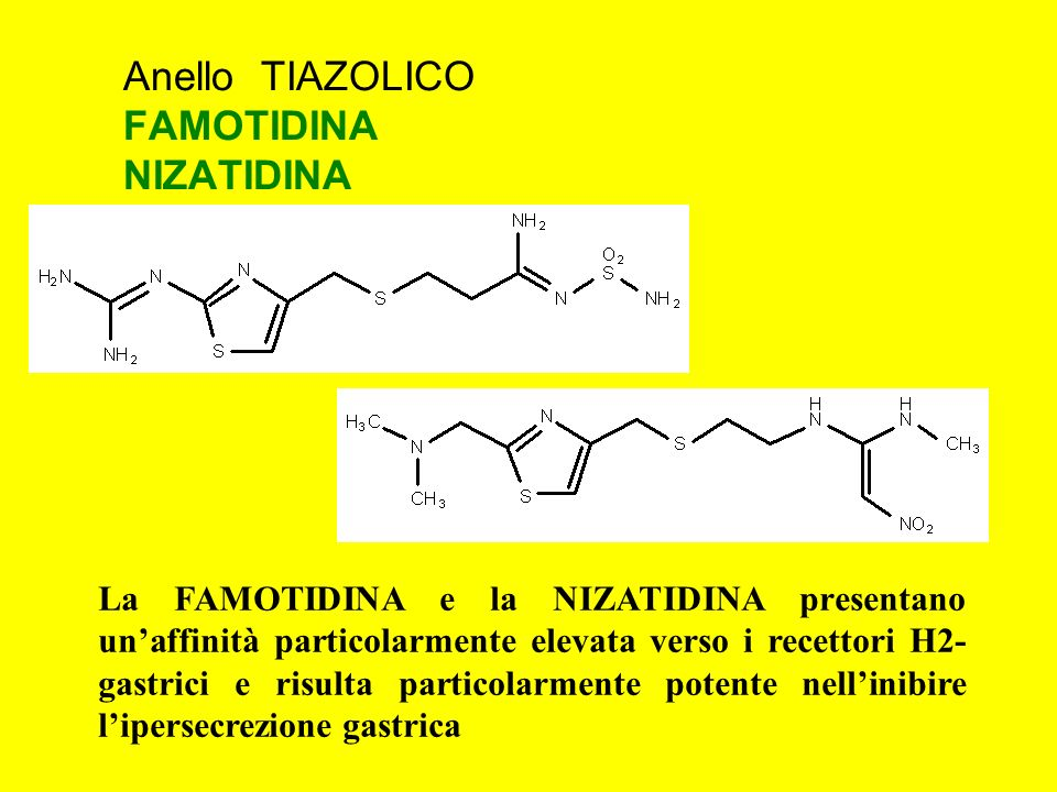 Anello TIAZOLICO FAMOTIDINA NIZATIDINA