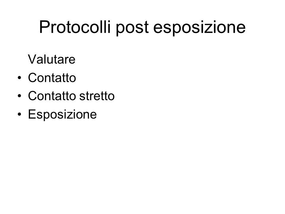 Protocolli post esposizione
