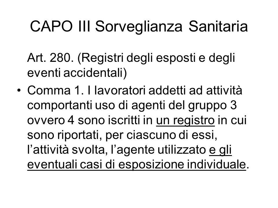CAPO III Sorveglianza Sanitaria