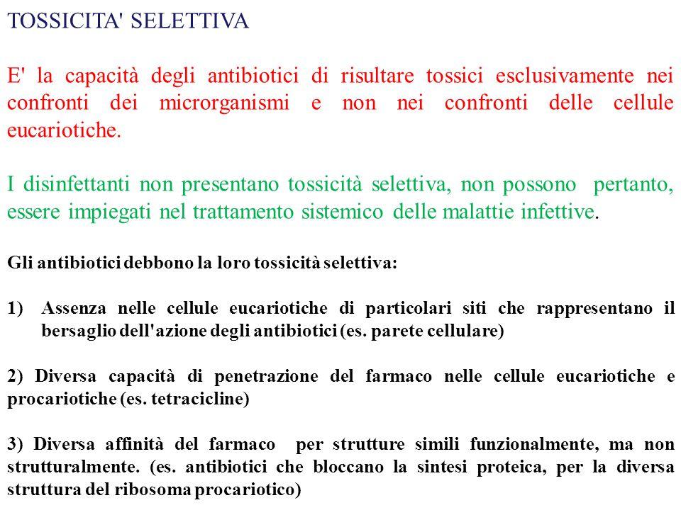 TOSSICITA SELETTIVA