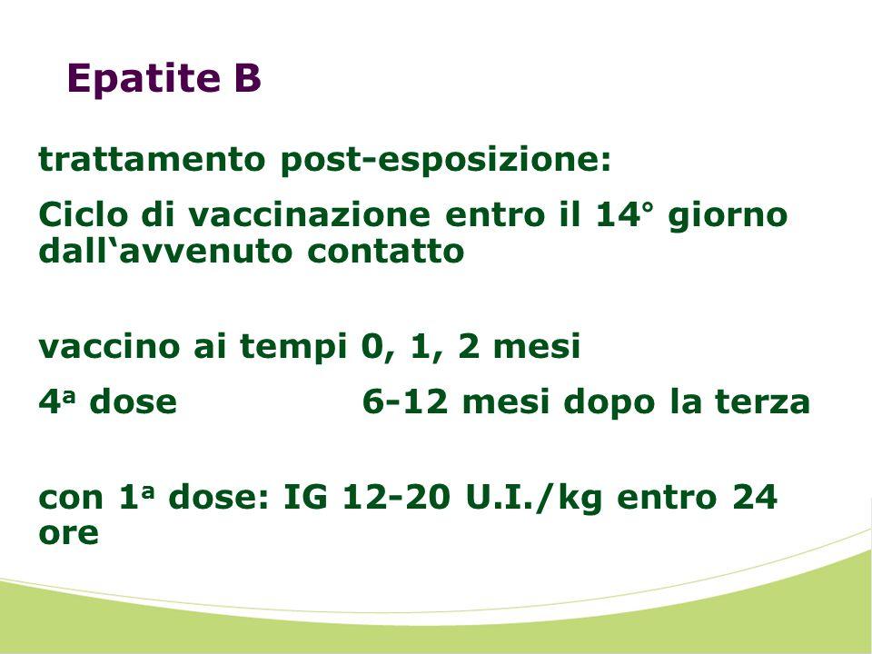 Epatite B trattamento post-esposizione:
