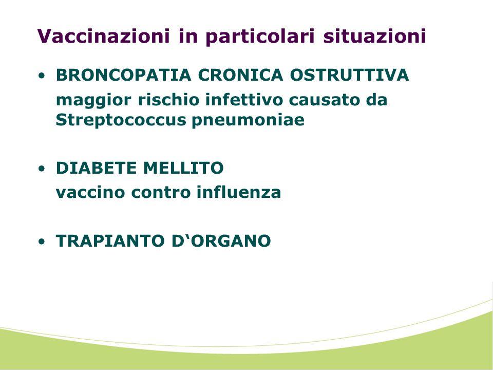 Vaccinazioni in particolari situazioni
