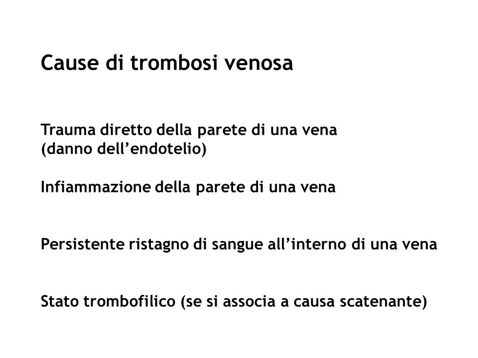 Cause di trombosi venosa